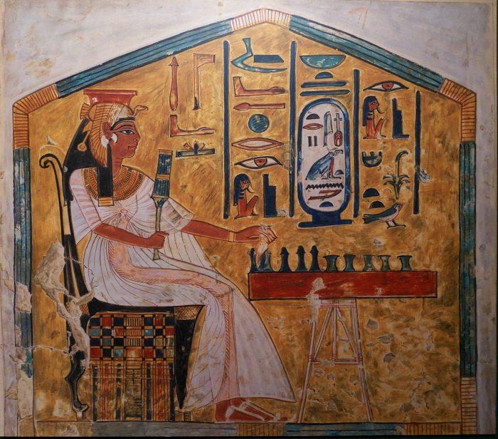 Nefertari_juega_al_Senet,_tumba_de_Nefertari