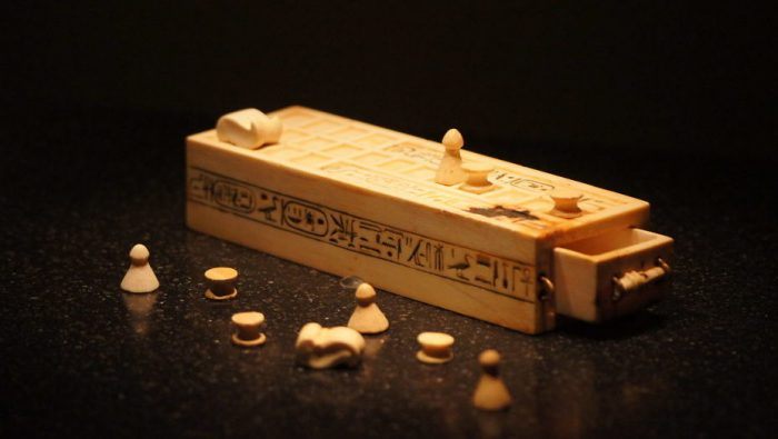 Senet game from the tomb of Tutankhamun, kept in the Cairo museum